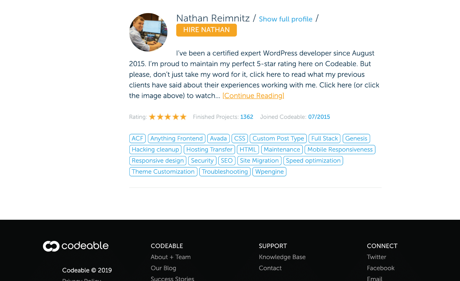 Hire WordPress designer/developer