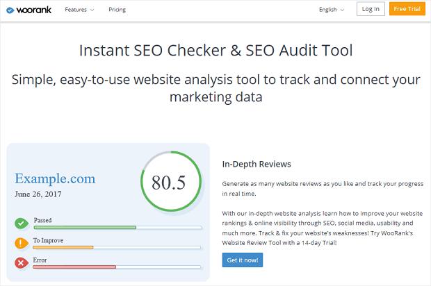WooRank best seo competitor analysis tool