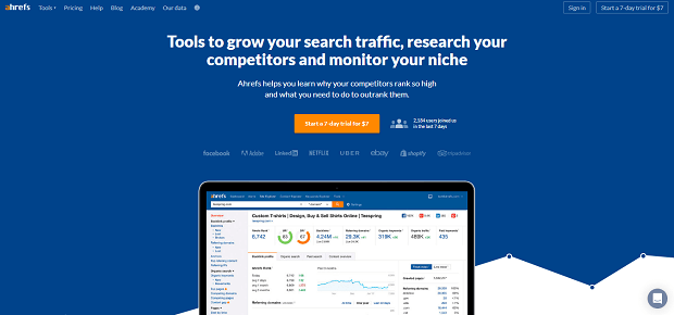 Ahrefs competitor analysis tool